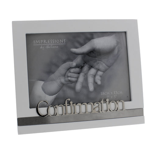 "Confirmation Frame White 7""x5"""