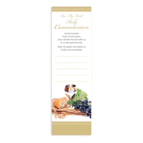 Bookmarks Fill-in - Holy Communion - Chalice, Grapes and Bread