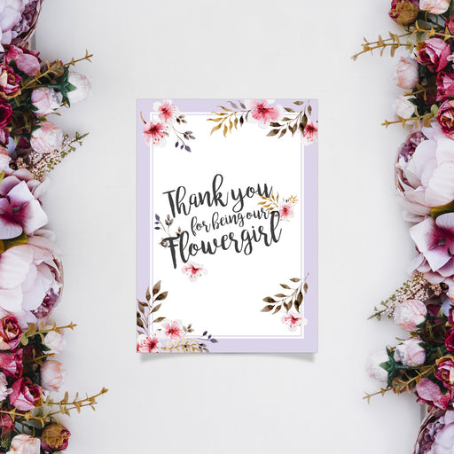 Card - Thank you for Being our Flowergirl