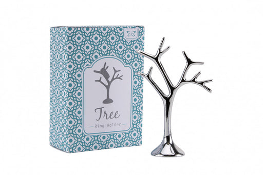 Tree - Ring Holder - Silver
