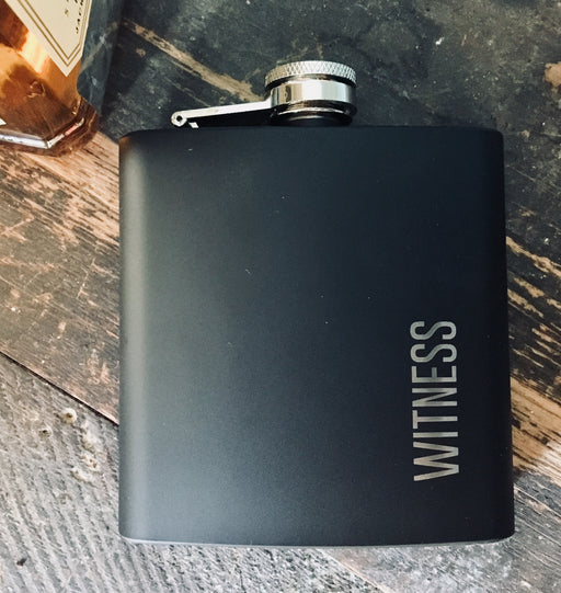 Black Hip Flask In Stainless Steel - WITNESS