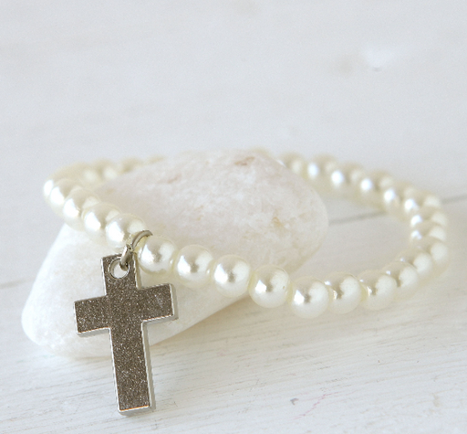 Beads And Cross Bracelet