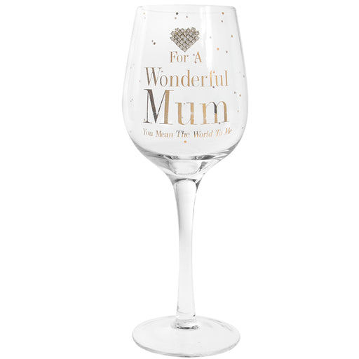 Wine Glass MUM - MAD DOTS