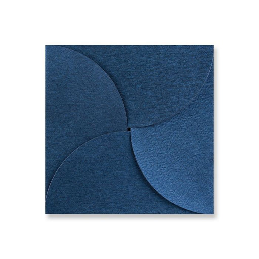 Envelope Pouchette - Royal Blue Brocade - 145X145mm