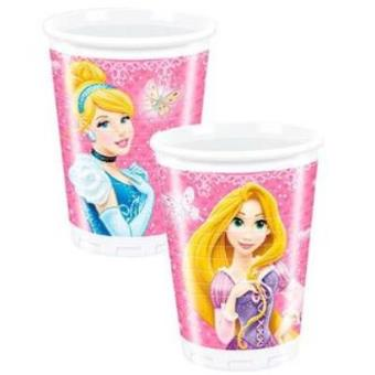 8 Princess Glamour Plastic Cups
