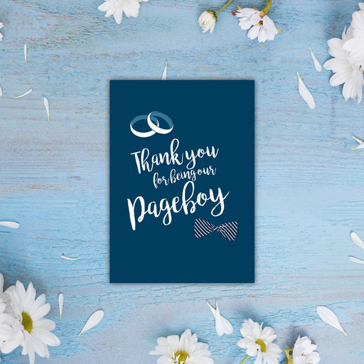 Card - Thank you for Being our Pageboy
