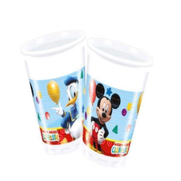 8 Plastic Cups Mickey Playful