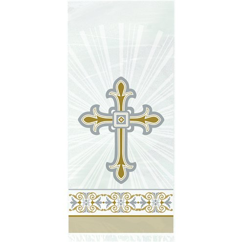 Silver & Gold Radiant Cross Cello Party Bags - 20pk