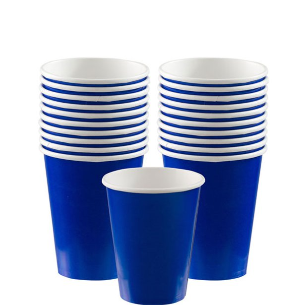 Paper Cups - Royal Blue - 266ml (20pk)