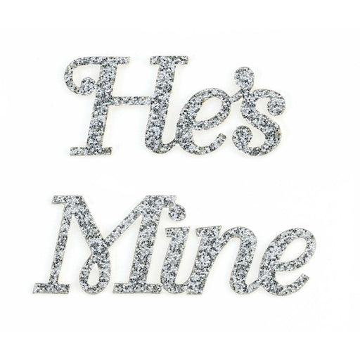 He's Mine Shoe Sticker