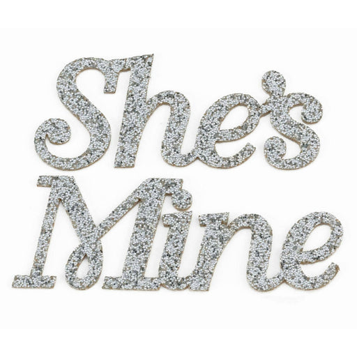 Groom She'S Mine Shoe Stickers