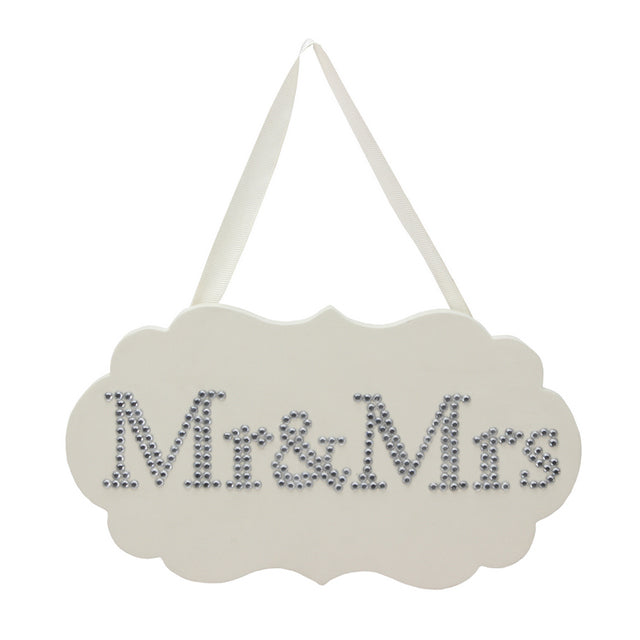 Amore Plaque With Crystals - Mr. And Mrs.