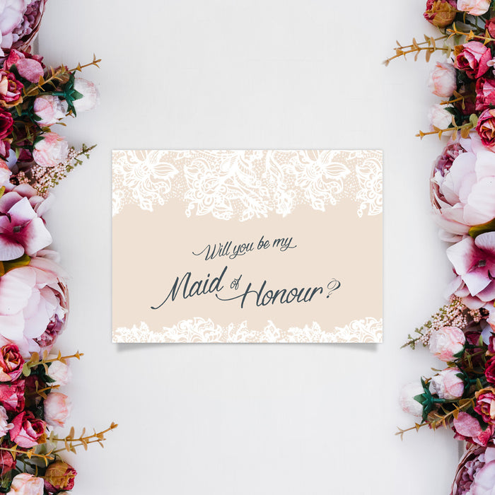 Proposal Card - Maid of Honour
