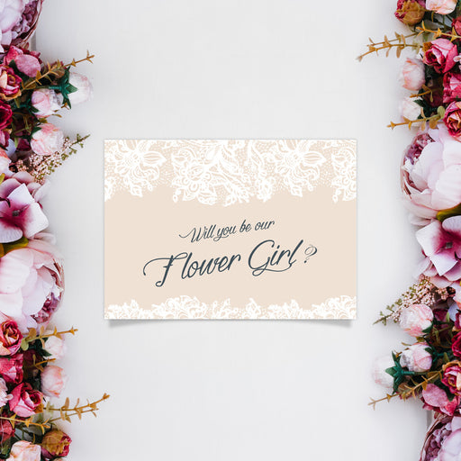 Proposal Card - Flower Girl - Design 2