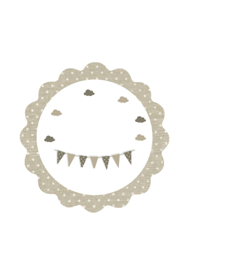 Beige Baptism Sticker