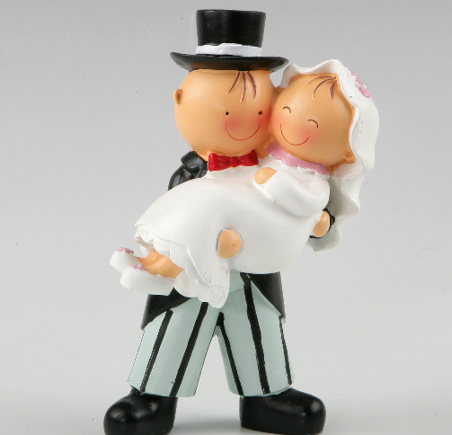 Bride on Arms Wedding Couple Figurine