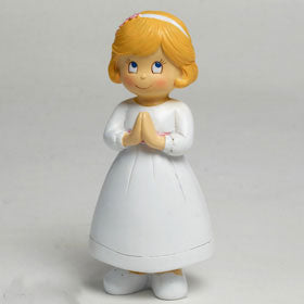 Communion Blond Girl Cake Topper