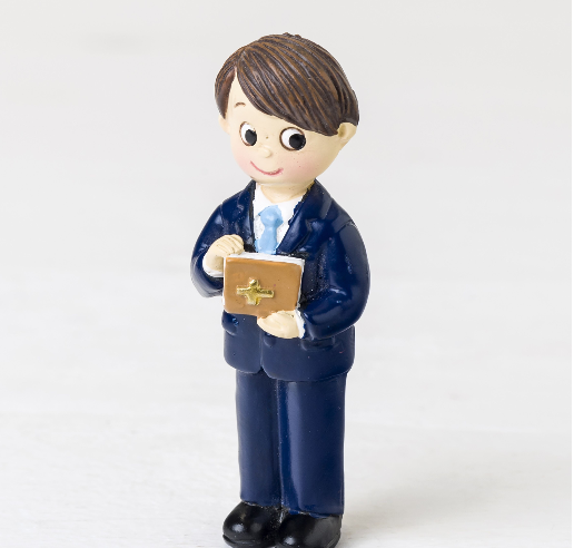 Communion boy with bible magnet