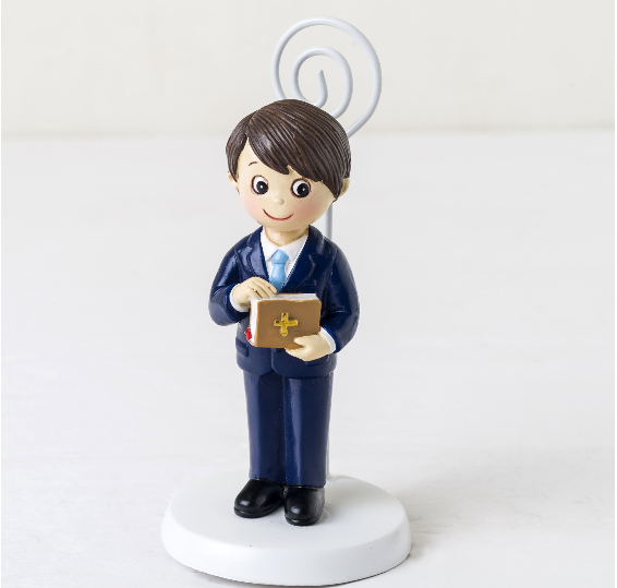 Communion Boy and Bible Card/Photo Holder