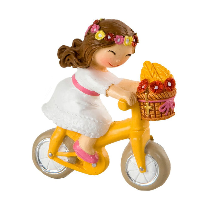 Communion Girl with bicycle magnet