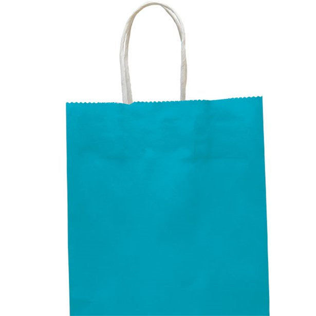 Party Bag with handles - Turquoise - Medium 25cm