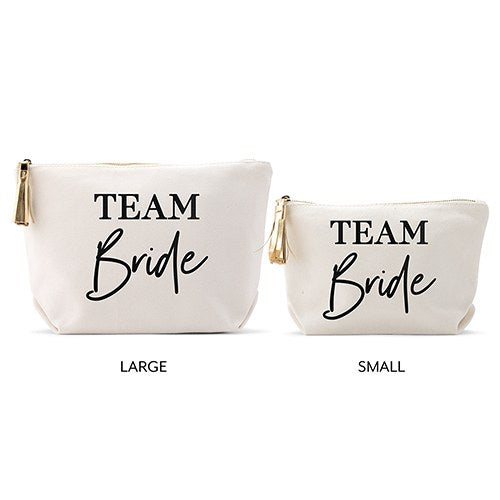 Team Bride - Canvas Makeup And Toiletry Bag For Women