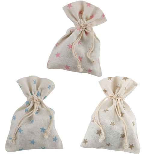 Medium Cotton Bag - Stars Print - 12x14cm
