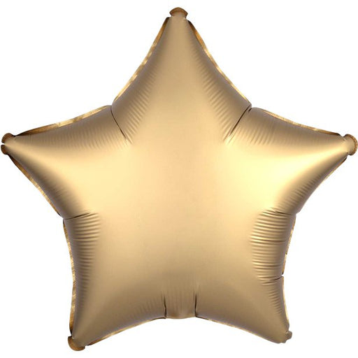 Balloon Foil - Star Shape - Gold Satin 18''