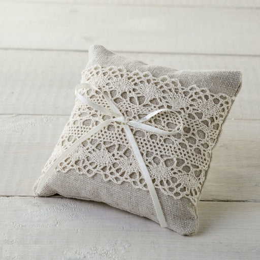 Ivory and Lace - Small Ring Pillow