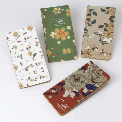 Kraft Notebook with Floral Cover