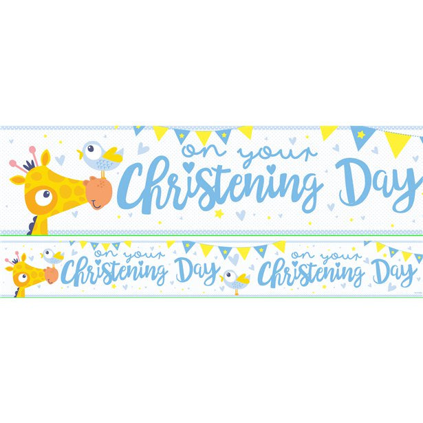 Banner Paper - Christening Day - Blue