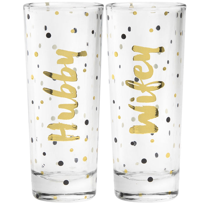 Shot Glasses - Hubby & Wifey