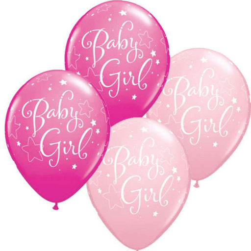 Balloon Latex Matt - Baby Girl Stars - 11""