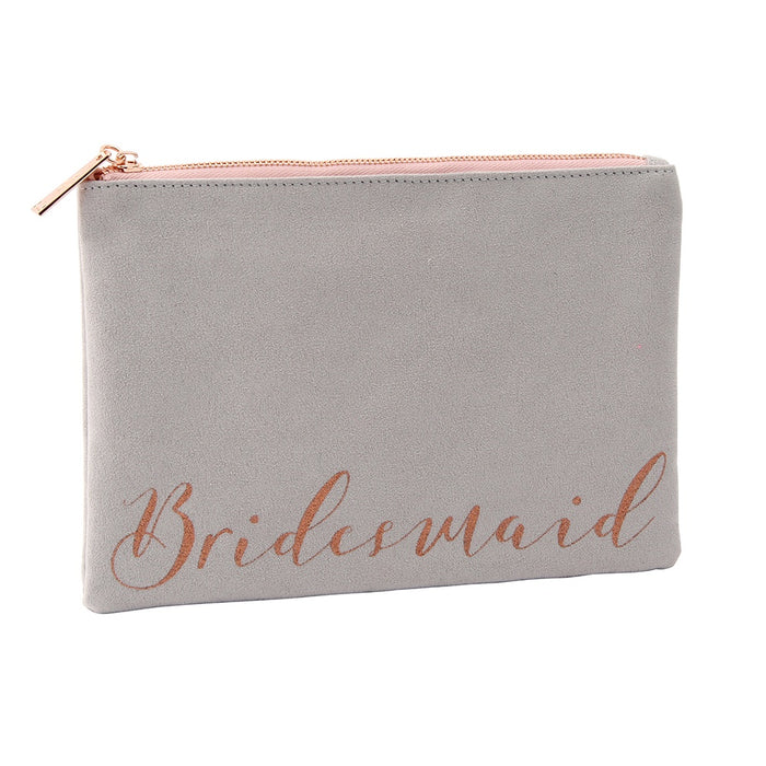 Beauty Bag - Grey 'Bridesmaid'