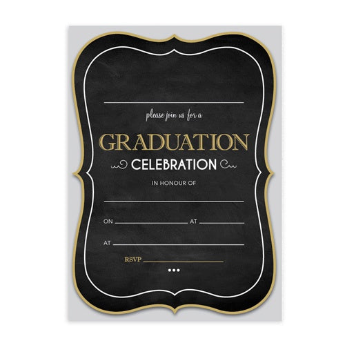 Invitation Fill-in - Graduation Marquee