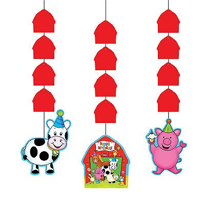 Barnyard Bash Party Dangling Cutouts
