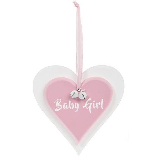 Plaque Double Heart - Baby Girl