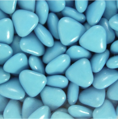 Dark Chocolate Dragees - Blue Little Hearts - 1kg