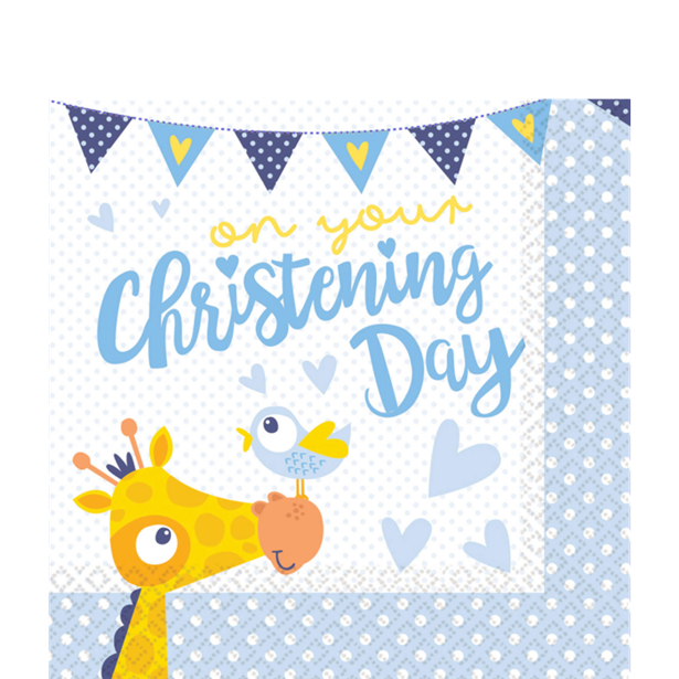 Luncheon Napkins - Christening Day Blue - 16pk