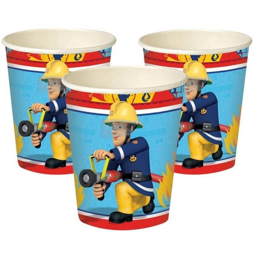 Fireman Sam Cups - 266Ml Paper Party Cups