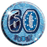 Dazzling Effects 60 Today Big Birthday Badge - Blue