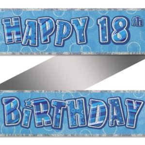 18th Prismatic B'Day Banner Dazzling Effect