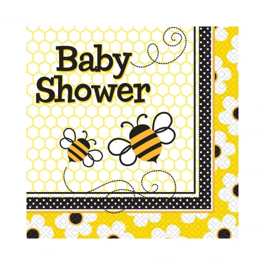 Busy Bees Baby Shower Luncheon Napkins 2Ply