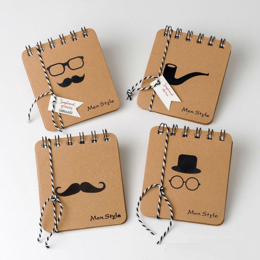 Spiral Notebook for Men with String