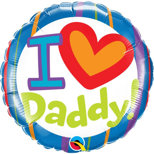Balloon Foil Round Shape - I Love Daddy - 18''
