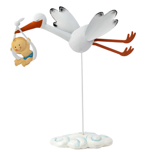 Cake Topper - Flying Stork with Baby Boy