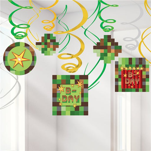 TNT Minecraft Party Hanging Decorations