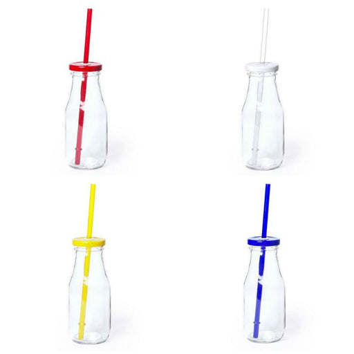 Milk Bottle with Straw