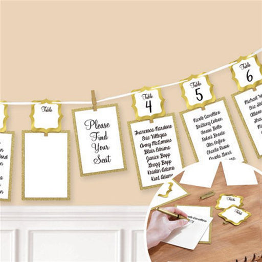 Seating Chart Garland - Gold