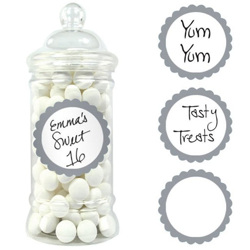 Candy Buffet Labels - Silver - 20pk